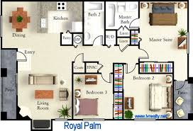 2 Bedroom Home Plans Colors Small Condo Floor Plans Home Design