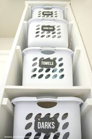 Sterilite 4 Drawer Cabinet Kmart by Diy Laundry Basket Organizer Built In But This Doesn U0027t Even