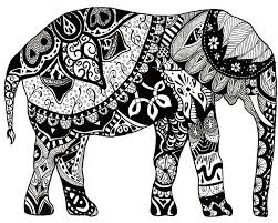 Hard Coloring Page To Color Adult PagesElephantsIndian