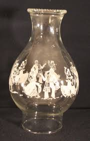 Oil Lamp Chimney Glass Replacement Canada by Oil Lamp Chimney Globe Printed Images Mexico Senorita Dancing 3