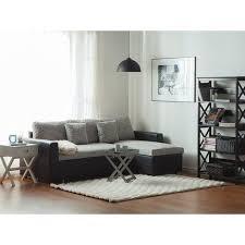 ecksofa schwarz grau polsterbezug l förmig linksseitig schlaffunktion traditionell modern wohnzimmer