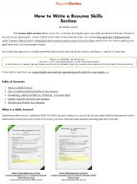 How To Write A Resume Skills Section | Resume Genius ... Resume Sample Word Doc Resume Listing Skills On Computer For Fabulous List 12 How To Add Business Letter Levels Of Iamfreeclub Sample New Nurse To Write A Section Genius Avionics Technician Cover Eeering 20 For Rumes Examples Included Companion Put References Example Will Grad Science Cs Guide Template