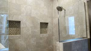 Daltile Quarry Tile Canyon Red by Shower Master Bathroom Suite Glass Partition Walk In Niche Daltile