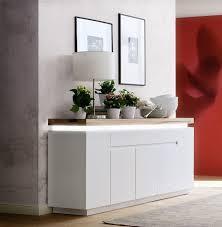 23 reduziert sideboard romina modern weiß 200 cm breit