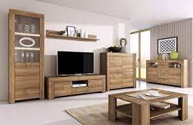 furniture24 wohnzimmer set wohnwand sky tv schrank vitrine hängeregal kommode sideboard couchtisch riviera eiche