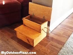 diy storage step stool myoutdoorplans free woodworking plans