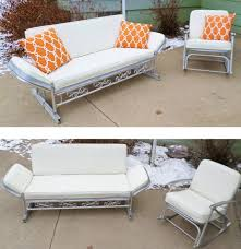 Meadowcraft Patio Furniture Glides by Vintage 1950 U0027s Patio Furniture Glider Sofa By Alsredesignvintage