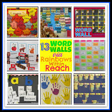 Word Wall Collage From Rainbows Within Reach