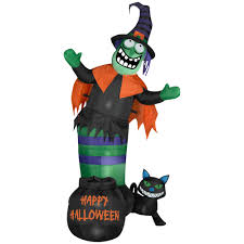 Gemmy Halloween Inflatables 2015 by Gemmy Halloween U2013 Gemmy Industries Animated Wobbling Witch Scene