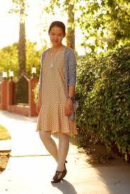 beige polka dot dress 14 shades of grey
