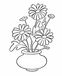 Simple Flower Coloring Page Pages Of Within Draw Easy Flowers