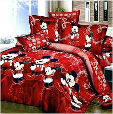 Minnie Mouse Queen Bedding by Mickey And Minnie Mouse Comforter Set Queen Size Home Design