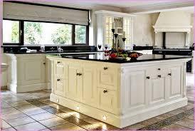 Antique White Kitchen Cabinets With Black Granite Countertops