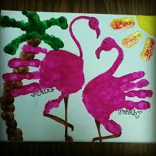 Handprint Flamingo Artsy Crafts Handprint Art Crafts For Kids