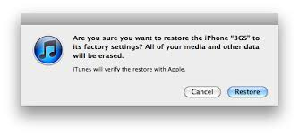 How can I restore iPhone to factory settings with iTunes