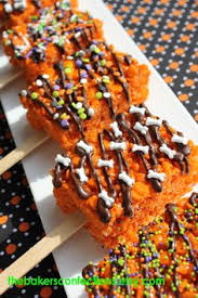 Halloween Pretzel Rod Treats by I Want To Make These And Give Them Away Halloween Holidays