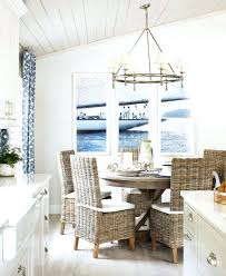 Nautical Dining Room Coastal With Rattan Chairs Living Navy Blue