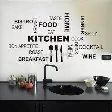Top 3058cm Black Vinyl Stick Words Fashion Kitchen Sticker Wall Decor On Closet In Stickers From Home Garden