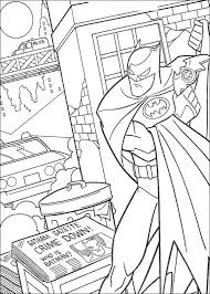 Batman Fighting Crime Coloring Page Dc Comics Pages Superheroes Free Online And Printable