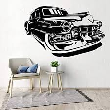 yaonuli vinyl aufkleber wandtattoo retro antik auto garage