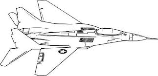 Airplane F18 Jet Fighter Coloring Page
