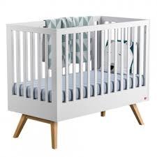 chambre bébé modulable lit bébé évolutif 70 x 140 nature blanc vox pour chambre enfant