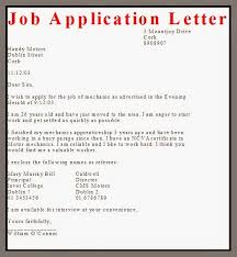 Ideas Example Business Letter Applying for A Job Also