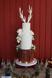 Antler Tree Trunk Cake