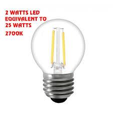 2 watts led 25 watts e 26 g16 5 globe led bulb 41120 ul
