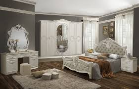 schlafzimmer set letizia in weiß beige 160x200 cm mit