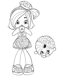 New Shopkins Doll And Shopkin Coloring Page