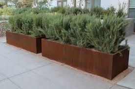 Custom Cor Ten Steel Planter Boxes outdoor furniture
