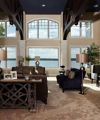 Taupe Living Room Decorating Ideas by Atlanta Navy Blue Sofa Living Room Modern With Round Glass Top