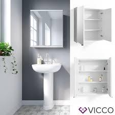 vicco spiegelschrank roy 60 x 68 cm weiß spiegel badspiegel bad wandspiegel