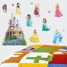 Fathead Princess Wall Decor by Wall Ideas Disney Princess Wall Art Disney Princess Ariel