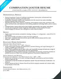 Janitorial Resume Sample Building Janitor Examples Skills Employers Want To Job Description