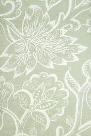 Jacobean Floral Design Curtains by Jacobean At Night Linen Fabric Large Floral Design In White