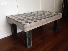 Chevron Painted Coffee Table Made From Repurposed Pallets Pallet Tables