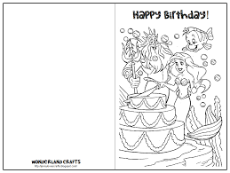 Free Birthday Cards Coloring Pages Cooloring
