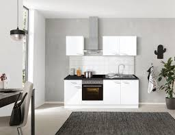 optifit küchenzeile iver 210 cm breit inkl elektrogeräte der marke hanseatic wahlweise mit oder ohne vollintegrierbaren geschirrspüler
