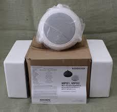 bogen mini pendant speaker 70v white part number mps1w ebay