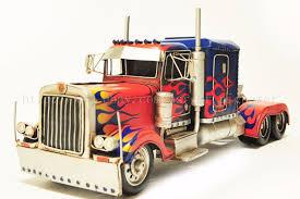 Handmade Transformers Optimus Prime Container Truck Tinplate Antique ...