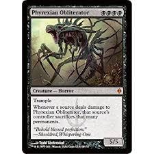 amazon com magic the gathering phyrexian obliterator new