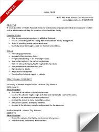 Medical Assistant Resume With No Experience From Teacher Sample Objective Skills