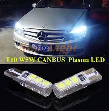 2pcs canbus t10 w5w plasma led clearance l bulb side parking