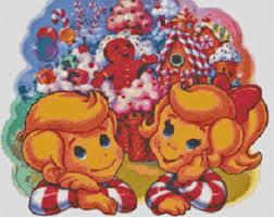 Vintage Retro Candyland Board Game Handmade Altered Art PDF Cross Stitch Pattern