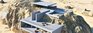 100 Design House Inside House Inside A Rock Shows Concrete Slabs Contrasting Organic Geometries
