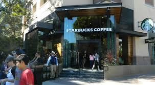 Outside Of Starbucks In Downtown Disney