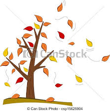fall leaves tree clipart