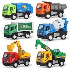 100 Kids Dump Truck Set Of 6 Pullback City Builder Construction Vehicles For